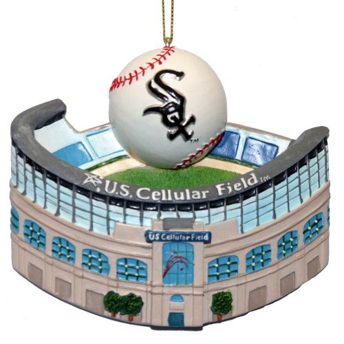 Kurt Adler 3-1/2-Inch Chicago White Sox Cellular Field with Baseball Ornament at Amazon.com