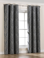 Oxford Damask Eyelet Curtains