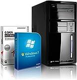 shinobee Flüster-PC Quad-Core Office/Multimedia PC Computer mit 3 Jahren Garantie! inkl. Windows7 Professional - INTEL Quad Core 4x2.41 GHz, 4GB RAM, 320GB HDD, Intel HD Graphics, HDMI, VGA, DVD±RW, Office, USB 3.0 #4840