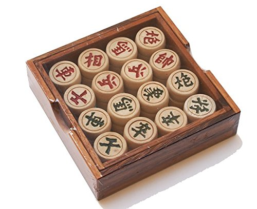 Portable Traditional Wooden Chinese Chess Checker Game Set
