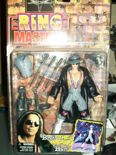 "WCW RING MASTERS- BRET ""THE HITMAN"" HART by Toy Biz"