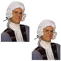 Forum Novelties Men's Colonial George Washington Historical Costume Wig (2 Pack)