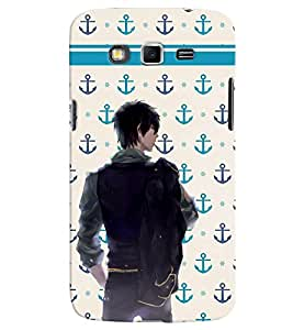 PrintVisa Cool Boy Navy Cool 3D Hard Polycarbonate Designer Back Case Cover for Samsung Galaxy Grand 2