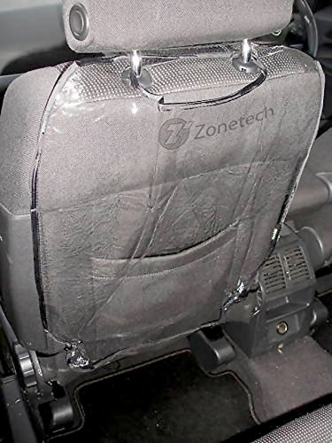 Zone Tech Transparent Auto Seat Back Protector - Premium Quality Waterproof Car Seat Back Cover