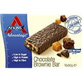 Atkins 60g Advantage Chocolate Brownie Bars - Pack of 16