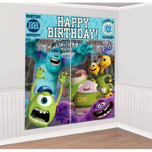 Monsters University Giant Scene Setter Wall Decorating Kit Birthday Party Decor by Amscan [Toy] - 1