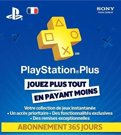 Playstation LiveCards plus abonnement 365 jours
