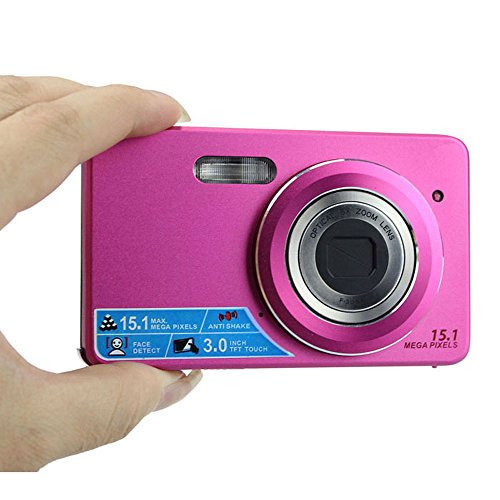 Bluesky 3.0 Inch Touch Screen Lcd 15Mp Digital Video Camera 5X Optical Zoom Dc (Hot Pink)
