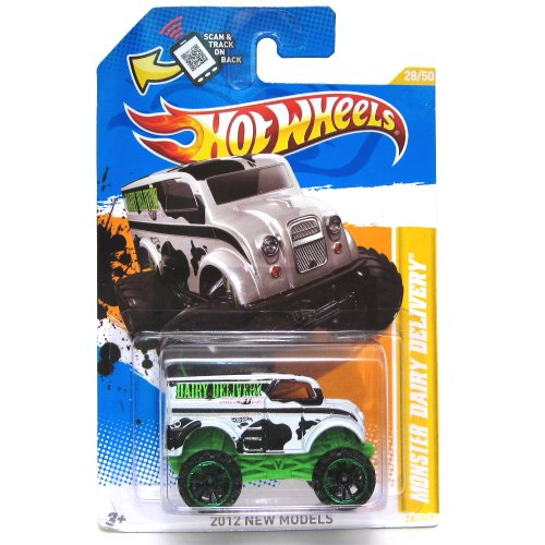 Hot Wheels 2012 New Models 28/50 Monster Dairy Delivery Factory Sealed Version - 1