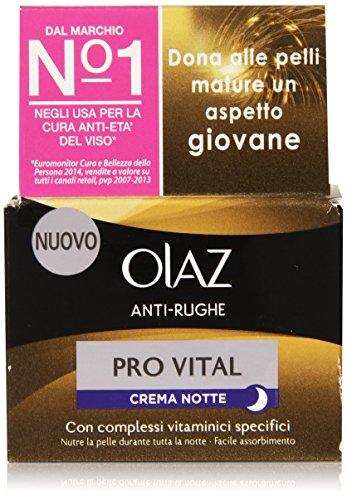 Olaz - Pro Vital Crema Notte Anti-Rughe, Con Complessi Vitaminici Specifici