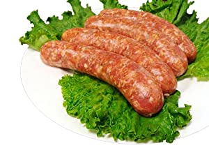 3 Lbs Fresh Made to Order Hot Italian Sausage Links from Christmas Central Gourmet Foods