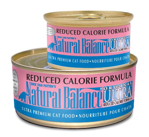 Natural Balance Canned Cat Food, Reduced Calorie Formula, 24 x 6 Ounce Pack