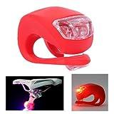 KooPower LED Silikon Fahrrad Bicycle Bike Wateproof Leuchten Fahrradlampe 2 Pack Weiß & Rot Fahrrad Licht Picture