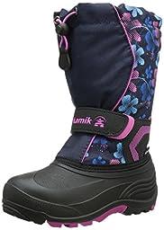 Kamik Snowbank2 Snow Boot (Toddler/Little Kid/Big Kid), Navy/Magenta, 2 M US Little Kid