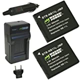 Wasabi Power Battery (2-Pack) and Charger for Canon NB-11L and Canon PowerShot A2300 IS, A2400 IS, A2500, A2600... by Wasabi Power