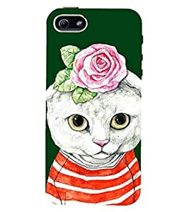 printtech Cat Back Case Cover for Apple iPhone 4::Apple iPhone 4S