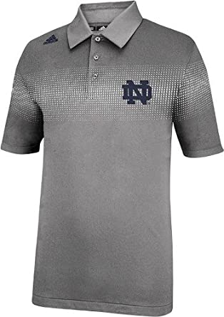 Notre Dame Fighting Irish Adidas 2013 Sideline Coaches Polo - Ash by adidas