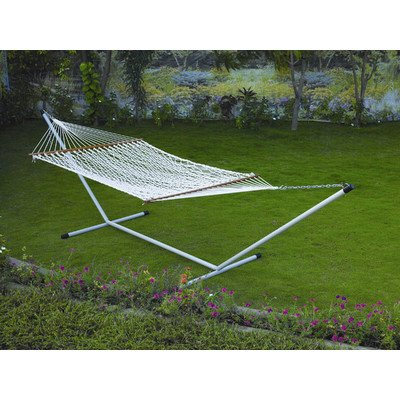 Cotton Rope Hammock Set Size: 46″ H x 48″ W x 156″ D