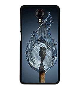 Fuson Premium 2D Back Case Cover Water fire With Black Background Degined For Micromax Canvas Xpress 2 E313::Micromax Canvas Xpress 2 (2nd Gen)