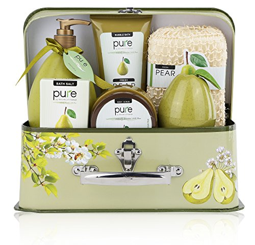 One Day Sale!! Spa in a Basket. Deluxe Gift Set for Women (Fresh Pear)
