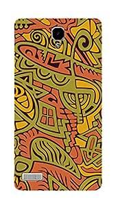 SWAG my CASE PRINTED BACK COVER FOR XIAOMI REDMI NOTE 2 Multicolor