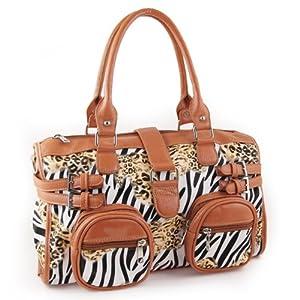 Yippydada Zebrax Baby Changing Bag (Brown) by Yippydada