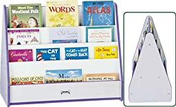Rainbow Accents 3507JCWW003 Double Sided Pick-A-Book Stand, Mobile, Blue