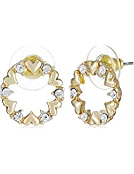 NewU Accessories Stud Earrings For Women (Golden And Silver) (30050818)