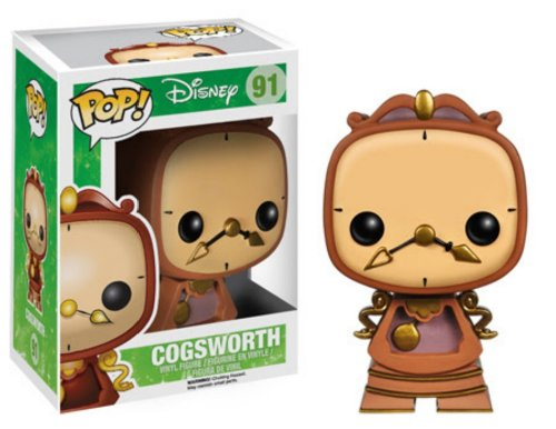 Funko Pop! Disney Beauty And The Beast Cogsworth Figura in vinile