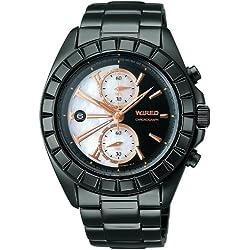 [ワイアード]WIRED 腕時計 2011年クリスマス限定モデル クロノグラフ 白蝶貝ダイヤル 【数量限定】 AGAV758 メンズ