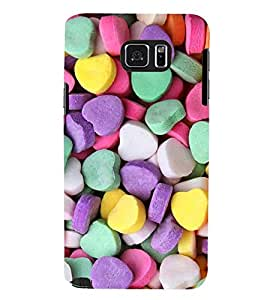 Printvisa Heart Shaped Candies Pattern Back Case Cover for Samsung Galaxy Note 5 N920