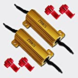 50W 6Ohm LED Load Resistors for LED Turn Signal Lights or LED License Plate Lights (Fix Hyper Flash, Warning Cancellor)