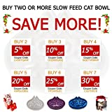 Simply Pets Online | Slow Feed Cat Bowl | Small breed dog feed bowl | Slow Feed Bowl For Pets - Slow Down Eating - Eco-friendly Durable Non Toxic Bamboo Fibre- Designed By 2 Veterinarians (Blue)