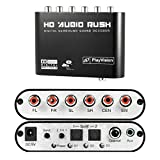 Aizbo 5.1 Audio Rush Digital Sound Decoder Converter - Optical SPDIF/ Coaxial Dolby AC3 DTS stereo(R/L) to 5.1CH Analog Audio (6RCA Output)