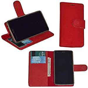 R&A Pu Leather Wallet Flip Case Cover With Card & ID Slots & Magnetic Closure For Nokia Asha 501
