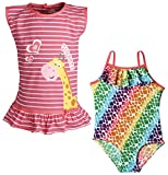 Wippette Baby Girls One Piece Swimsuit and Sleeveless Coverup Beach Swim Set