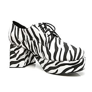 "312-PIMP 3"" Platform Shoe Zebra Mens Large (12-13) from Ellie Shoes, Inc."