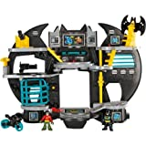 Sparkling Fisher-Price Imaginext Batcave with accompanying HSB Storage Bag