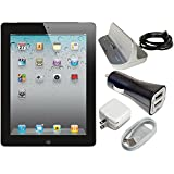 Apple iPad 2 16GB with Wi-Fi - Black MC769LL A Power Bundle - Includes Apple Power Dock for iPad iPhone iPod with 30Pin Connector & 2.1amp Dual USB Car Charger (Certified Refurbished)