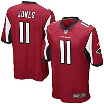 Nike NFL Youth Atlanta Falcons JULIO JONES # 11 Game Jersey, Red by Nike