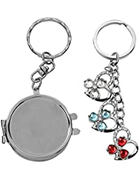 Atul's Gallery Silver And Multicolor Keychain (Pack Of 2) - B01FX8DI98