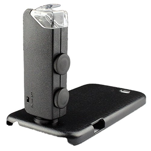 Amar@60-100X Zoom Digital Mobile Phone Microscope Magnifier With Plastic Case Led Light For Samsung Galaxy S4 I9500