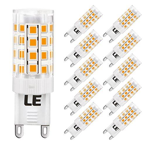 LE Lampadine a LED da 5W G9, Pari alle Alogena da 50W, Luce Bianco Caldo, 10 Pezzi