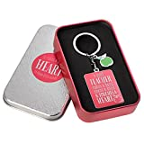 Pink Blessings to The Teacher Touches a Heart Keyring - 1 Corinthians 16:14