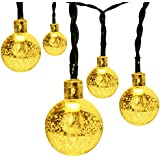 GARMAR Solar String Lights, 8 Mode 20ft 30 LED Crystal Ball Lights For Outdoor, Camping, Patio, Lawn, Landscape...
