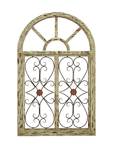 Deco 79 66778 Wooden Gate Style Garden Wall Plaque 0