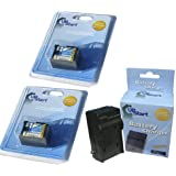 2x Pack - Canon XA10 Battery + Charger - Replacement for Canon BP-808 Digital Camcorder Battery and Charger (Decoded, 890mAh, 7.4V, Lithium-Ion)
