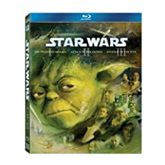 Star Wars: The Prequel Trilogy (Episode I: The Phantom Menace / Episode II: Attack of the Clones / Episode III: Revenge of the Sith) [Blu-ray]