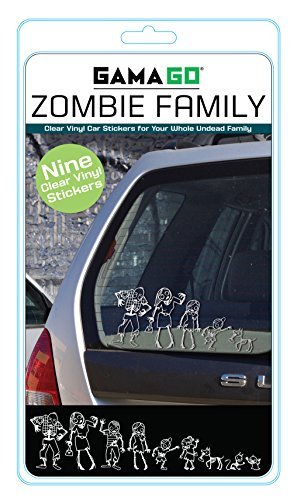 Zombie Family Car Stickers (By GAMAGO)