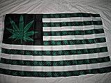 Marijuana Green 7 Point Weed Usa Flag Banner 3'X5' 3X5 Ft Pot Leaf Bud Hash